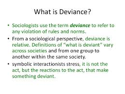 Social disorder and deviance