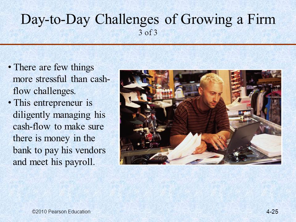 Day-to-day challenges of growing a firm