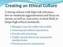 Establishing a strong ethical culture