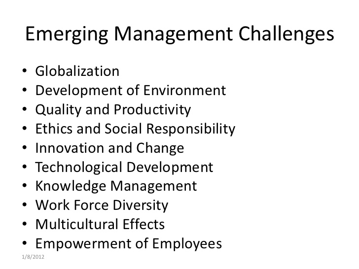 Emerging Management Issues and Challenges