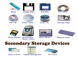 Secondary storage and its types
