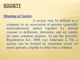 Meaning And Definition Of The Society