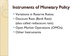 Monetary Policy (Instruments, Targets)