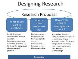 Designing the research and collecting the data through field work