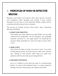 Principle of Clear Business Writing 1