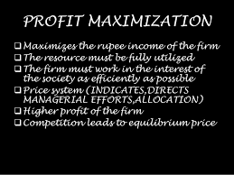 Profit maximization and Equilibrium of a Firm
