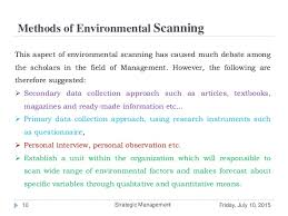 Techniques or Methods of Environmental scanning