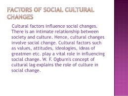 Factors affecting cultural change