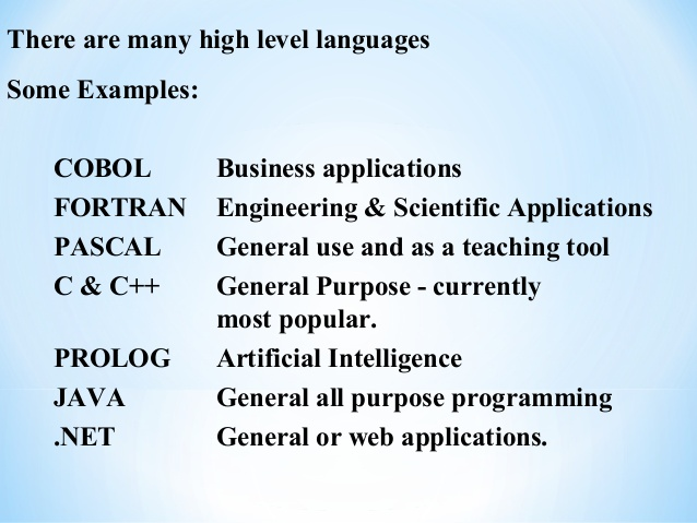 Language Translators And High Level Programming Languages