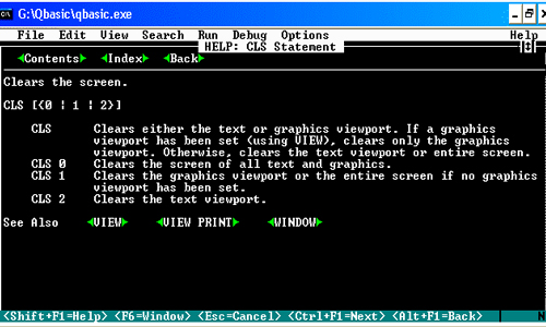 Elements of QBASIC programming