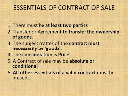 Contract of Sales of Goods