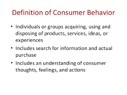 Consumer Behaviour - Buying process and influencing factors