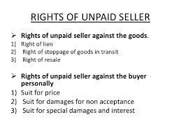 sale by Non-owner and right of an unpaid seller