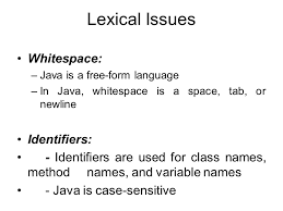 Lexical Issues and its various components