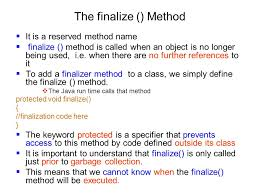 Constructors,This Keyword,Garbage collection, Finalized Method And Stack Class