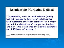 Relationship Marketing, Green and E-marketing, Marketing Mix of Product and services