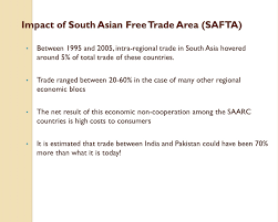 Regional Groupings of Nations, Regional Trade Agreements in South Asia