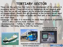 Secondary and Tertiary Sector Development- Status,Contribution to National Economy, Challenges