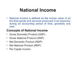 Various Concept of National Income