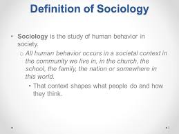 Meaning and nature of sociology