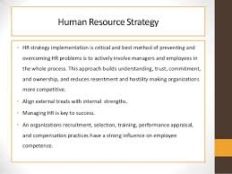Human Resource Strategy and Relationship with Human Resource Planning