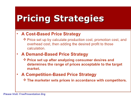 Price and Major Pricing Strategies
