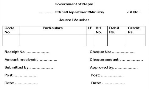 Journal Voucher for Budget Expenditure and Annual Closing