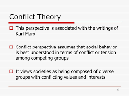 Conflict theory and its Basic Assumption