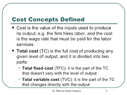 Various Concepts of Costs