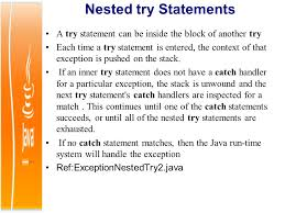 Nested Try Statement