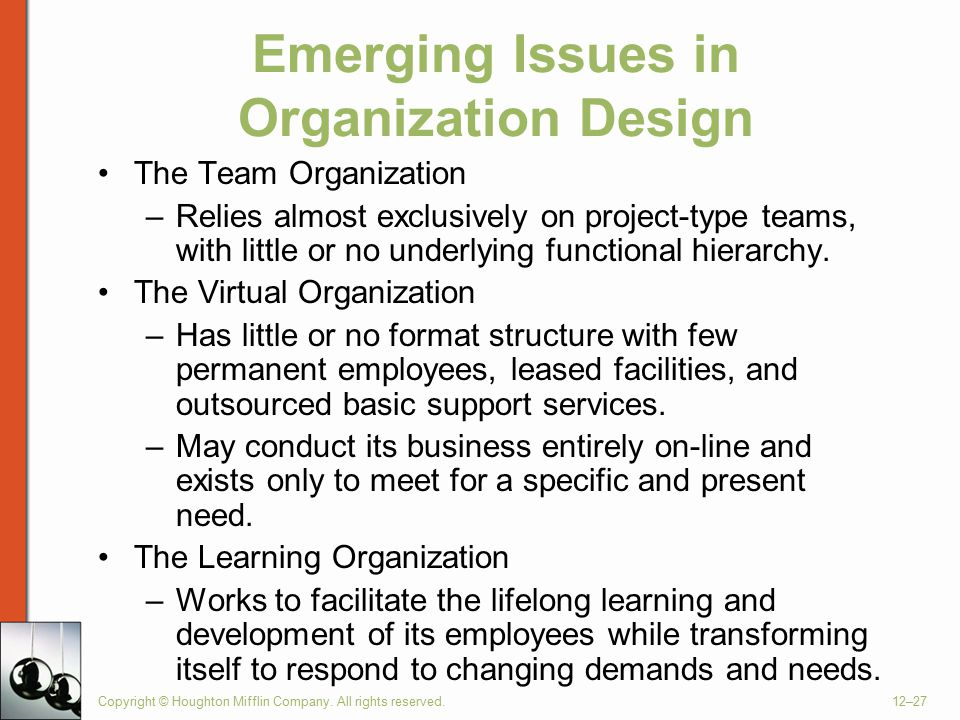 Emerging Concepts in Organizing and Design