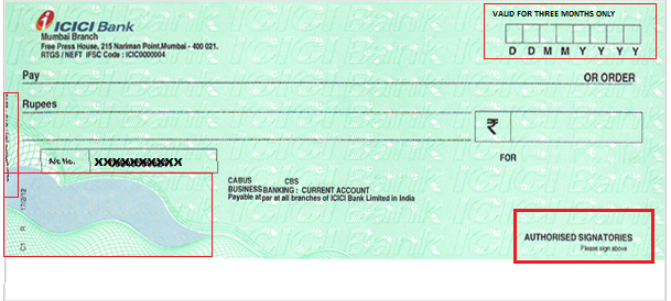Passport Application Form and Cheque