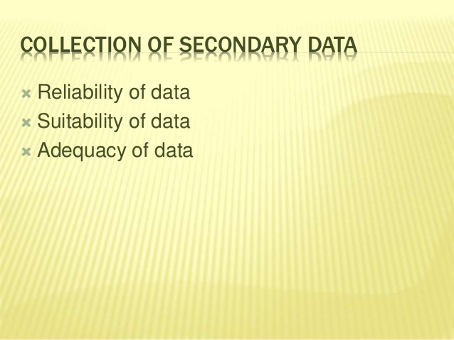 Collection and Organization of Data