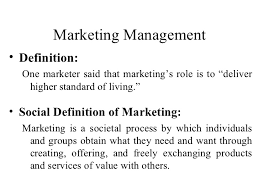 Marketing Management and its Function