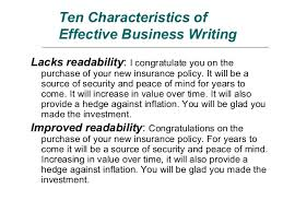 Principle of Clear Business Writing