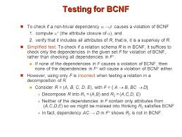 Testing of the relation