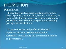 Concept and Objective of Promotion and Concept of Marketing Communication