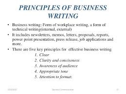 Principle of Clear Business Writing 3