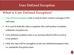Java user defined exceptions