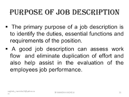 Meanings of Job Tasks, Position and Occupation