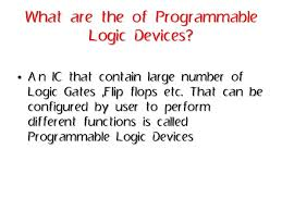 Programable Devices