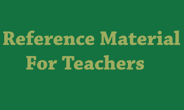 Reference Sites for Teachers