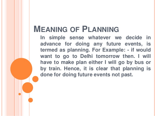 Meaning and Characteristics of Planning, Levels of Planning