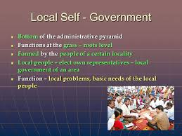 Local self government- Roles and Functions