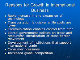 Reasons for International Business Expansion, Drivers of Market Globalization