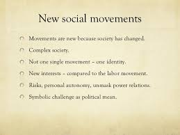 Independence of social and technical skills and social movement politics and organization