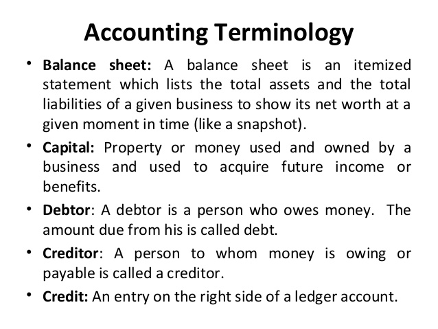 Accounting Cycle and Accounting Terminologies