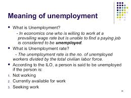 Unemployment: Meaning and types, Philips curve