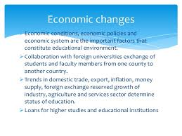 Economic, political and the education system