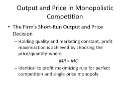 Equilibrium Price and Output Determination in Monopoly